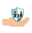 family insurance concept icon vector image vector image