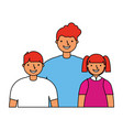 father with son and daughter vector image