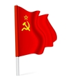 flag ussr vector image vector image