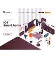 flat color modern isometric concept - iot vector image