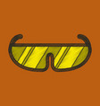 flat shading style icon ski goggles vector image vector image