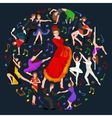 Girl flamenco dancer in red dress spanish vector image vector image