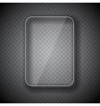 Glass Frame Rectangular Button on Checkered vector image