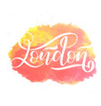 hand written city name hand lettering calligraphy vector image