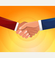 handshake businessmen shake hands business vector image