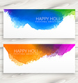 happy holi banners vector image vector image