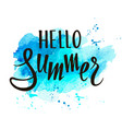 hello summer hand written lettering vector image vector image