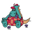 hippo in beret vector image