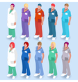 Hospital 14 People Isometric vector image vector image