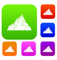 iceberg set color collection vector image vector image