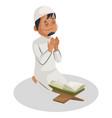 indian muslim man cartoon vector image