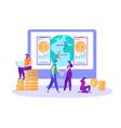 international money transfer online banking banner vector image