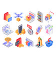isometric shopping online shop market delivery vector image vector image