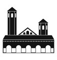 lighthouse icon simple style vector image