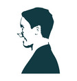 man face silhouette vector image vector image