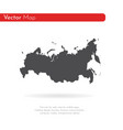 map russia isolated black on vector image vector image