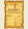 Menu for restaurant and cafe vector image