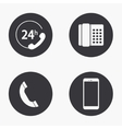 modern phone icons set vector image vector image