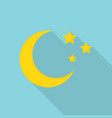 moon icon flat style vector image vector image