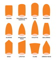 Nail shape set1 resize vector image