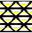 Painted Striped Yellow Black Pattern vector image vector image