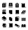 paper icon set vector image vector image