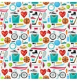Pattern of a healthy lifestyle vector image vector image