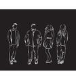 People sketch vector image