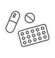 pill tablet icon on white background vector image vector image