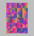 polygonal abstract multicolored triangle poster vector image vector image