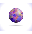 Prismatic faceted sphere vector image
