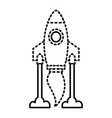 rocket launch start innovation icon vector image