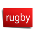 rugby red paper sign isolated on white vector image vector image