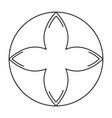 rune symbol icon vector image vector image