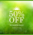 sale summer background vector image vector image