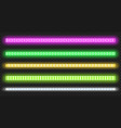 set led strips with neon glow effect vector image vector image