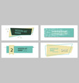 set of abstract geometric design banner web vector image vector image