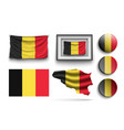 set of belgium flags collection isolated vector image