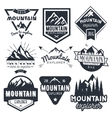 set of mountain labels in vintage style vector image vector image