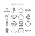 Set of simple icons for health and sport vector image