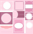 set of templates for cardsweddingbirthday vector image vector image