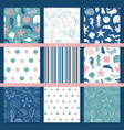 set seamless backgrounds on theme the vector image vector image