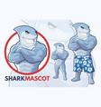shark mascot design vector image vector image