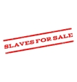 Slaves For Sale Watermark Stamp vector image
