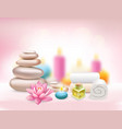 spa realistic rose composition vector image vector image