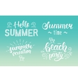 Summer hand lettering set Summer logos and vector image