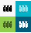 test tube science laboratory blood icon over vector image
