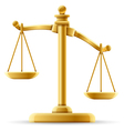 unbalanced scale justice vector image