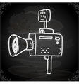 Video Camera Drawing on Chalk Board vector image