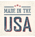Vintage Made in the USA Stamp vector image vector image